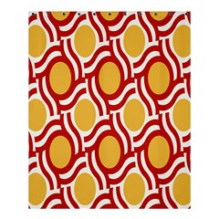 Circle Orange Red Shower Curtain 60  X 72  (medium)  by AnjaniArt