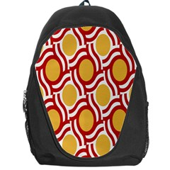 Circle Orange Red Backpack Bag by AnjaniArt
