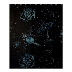 Decoboom Engraved Pickguard Space Saturnus Shower Curtain 60  X 72  (medium)  by AnjaniArt