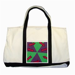 Daily Spinner Signpost Two Tone Tote Bag by AnjaniArt