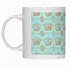 Crown King Paris White Mugs