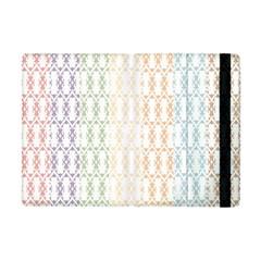 Digital Print Scrapbook Flower Leaf Color Green Purple Blue Pink Brown Apple Ipad Mini Flip Case by AnjaniArt