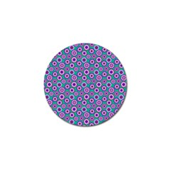 Clipart Floral Pattern Flower Purple Green Golf Ball Marker (4 Pack) by AnjaniArt