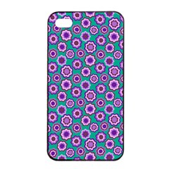 Clipart Floral Pattern Flower Purple Green Apple Iphone 4/4s Seamless Case (black) by AnjaniArt