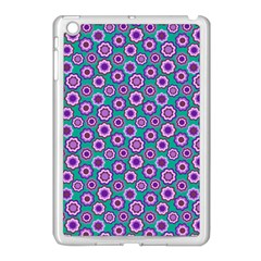 Clipart Floral Pattern Flower Purple Green Apple Ipad Mini Case (white) by AnjaniArt
