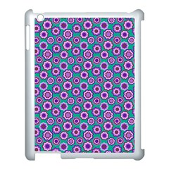 Clipart Floral Pattern Flower Purple Green Apple Ipad 3/4 Case (white) by AnjaniArt
