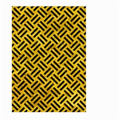 Woven2 Black Marble & Yellow Marble (r) Large Garden Flag (two Sides) by trendistuff