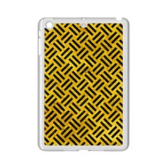 Woven2 Black Marble & Yellow Marble (r) Apple Ipad Mini 2 Case (white) by trendistuff