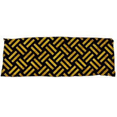 Woven2 Black Marble & Yellow Marble Body Pillow Case Dakimakura (two Sides) by trendistuff