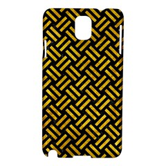 Woven2 Black Marble & Yellow Marble Samsung Galaxy Note 3 N9005 Hardshell Case by trendistuff