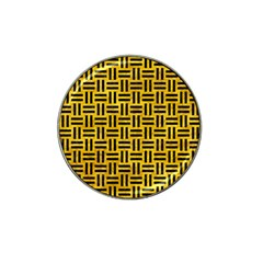 Woven1 Black Marble & Yellow Marble (r) Hat Clip Ball Marker (4 Pack) by trendistuff