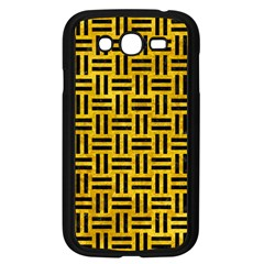 Woven1 Black Marble & Yellow Marble (r) Samsung Galaxy Grand Duos I9082 Case (black) by trendistuff
