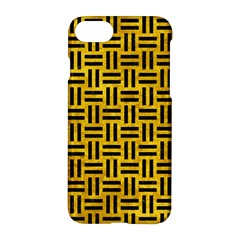 Woven1 Black Marble & Yellow Marble (r) Apple Iphone 7 Hardshell Case by trendistuff