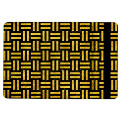 Woven1 Black Marble & Yellow Marble Apple Ipad Air Flip Case by trendistuff