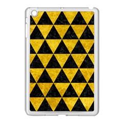 Triangle3 Black Marble & Yellow Marble Apple Ipad Mini Case (white) by trendistuff
