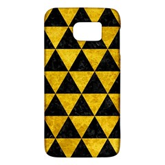 Triangle3 Black Marble & Yellow Marble Samsung Galaxy S6 Hardshell Case  by trendistuff