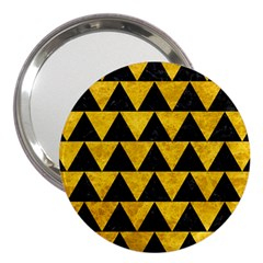 Triangle2 Black Marble & Yellow Marble 3  Handbag Mirror by trendistuff