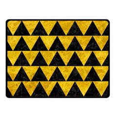 Triangle2 Black Marble & Yellow Marble Double Sided Fleece Blanket (small) by trendistuff