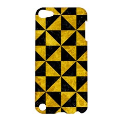 Triangle1 Black Marble & Yellow Marble Apple Ipod Touch 5 Hardshell Case by trendistuff