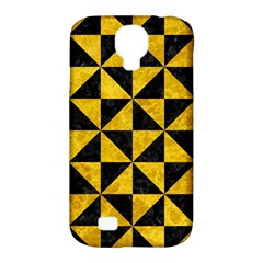 Triangle1 Black Marble & Yellow Marble Samsung Galaxy S4 Classic Hardshell Case (pc+silicone) by trendistuff