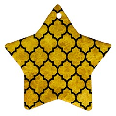 Tile1 Black Marble & Yellow Marble (r) Star Ornament (two Sides) by trendistuff
