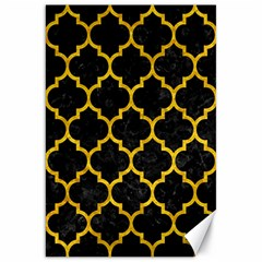 Tile1 Black Marble & Yellow Marble Canvas 20  X 30  by trendistuff
