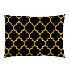 Tile1 Black Marble & Yellow Marble Pillow Case by trendistuff