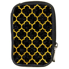 Tile1 Black Marble & Yellow Marble Compact Camera Leather Case by trendistuff