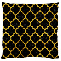 Tile1 Black Marble & Yellow Marble Standard Flano Cushion Case (one Side) by trendistuff