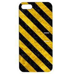 Stripes3 Black Marble & Yellow Marble (r) Apple Iphone 5 Hardshell Case With Stand by trendistuff