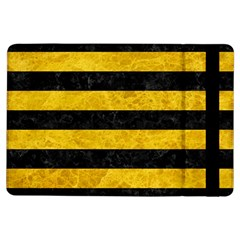 Stripes2 Black Marble & Yellow Marble Apple Ipad Air Flip Case by trendistuff