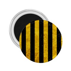 Stripes1 Black Marble & Yellow Marble 2 25  Magnet by trendistuff