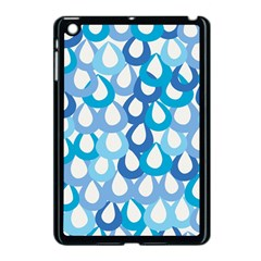 Fabrics Lucienne Blue Water Apple Ipad Mini Case (black) by AnjaniArt