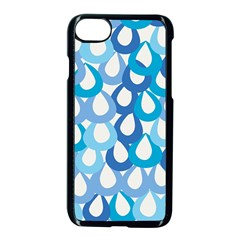 Fabrics Lucienne Blue Water Apple iPhone 7 Seamless Case (Black)