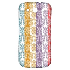 Digital Print Scrapbook Flower Leaf Color Green Red Purple Yellow Blue Pink Samsung Galaxy S3 S Iii Classic Hardshell Back Case by AnjaniArt