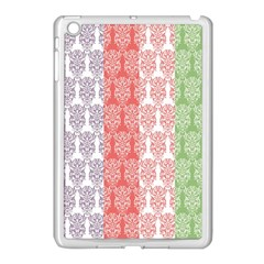 Digital Print Scrapbook Flower Leaf Color Green Red Purple Blue Pink Apple Ipad Mini Case (white) by AnjaniArt