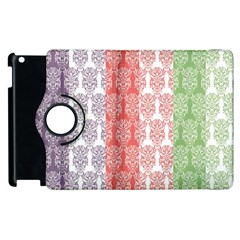 Digital Print Scrapbook Flower Leaf Color Green Red Purple Blue Pink Apple Ipad 2 Flip 360 Case by AnjaniArt
