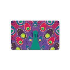 Colorful Peacock Line Magnet (name Card)