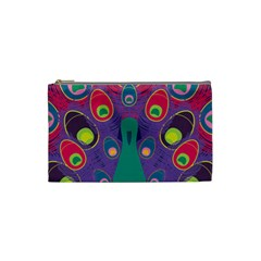 Colorful Peacock Line Cosmetic Bag (small)  by AnjaniArt