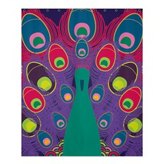 Colorful Peacock Line Shower Curtain 60  X 72  (medium)  by AnjaniArt