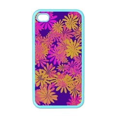 Floral Pattern Purple Rose Apple Iphone 4 Case (color) by AnjaniArt