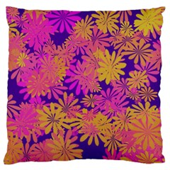 Floral Pattern Purple Rose Large Cushion Case (two Sides) by AnjaniArt
