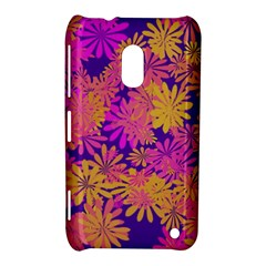 Floral Pattern Purple Rose Nokia Lumia 620 by AnjaniArt