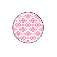 Flower Floral Pink Leafe Hat Clip Ball Marker (10 Pack) by AnjaniArt
