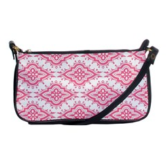 Flower Floral Pink Leafe Shoulder Clutch Bags by AnjaniArt