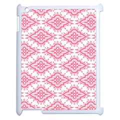 Flower Floral Pink Leafe Apple Ipad 2 Case (white) by AnjaniArt