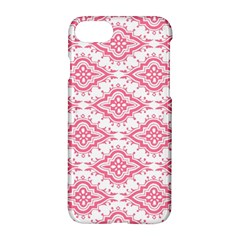 Flower Floral Pink Leafe Apple Iphone 7 Hardshell Case by AnjaniArt