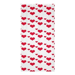 Heart Love Pink Valentine Day Shower Curtain 36  X 72  (stall)  by AnjaniArt