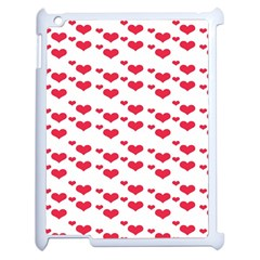 Heart Love Pink Valentine Day Apple Ipad 2 Case (white) by AnjaniArt
