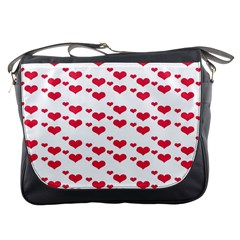 Heart Love Pink Valentine Day Messenger Bags by AnjaniArt